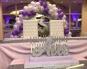 Sale - Free Shipping! Sweet 16 Candelabra, Quinceanera & Mitzvah Candle Lighting Centerpiece - Medium Two-Tier Size