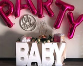 SALE - free shipping limited time! Large Freestanding Foam BABY table Letters - baby shower, photo prop, vip table, candy table Baby table