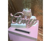 Tiara and Floral Sweet 16 15 Quince Card Box! GORGEOUS!!