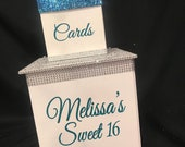 Graduation Two-Tier Card Box Glitter and Bling