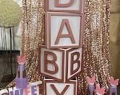 Huge Baby Blocks Prop! Photo shoot, candy buffet, baby shower!