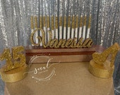 USA Made! Sweet 16 Candelabra and mini centerpiece set, Quinceanera & Mitzvah Candle Lighting Centerpiece