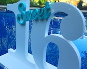 Pool Party Decoration Floating Prop Giant Numbers or Letters Sweet 16, Pool Float
