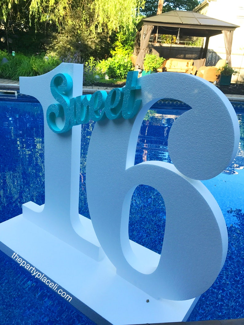 Pool Party Decoration Floating Prop Giant Numbers Or Letters
