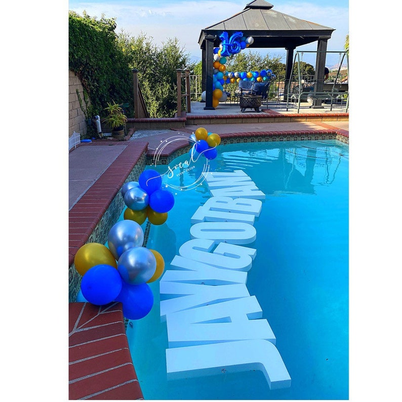 Pool Float Pool Decoration Floating Prop Letters Saying per image 0