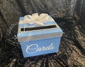 """Rhinestone Card Box with bling & bow  Sweet 16 / Wedding / Quince / Mitzvah 10"""""""