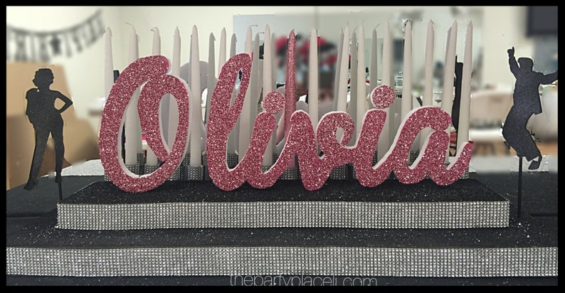 GREASE THEMED Sweet 16 Candelabra Quinceanera & Mitzvah image 0