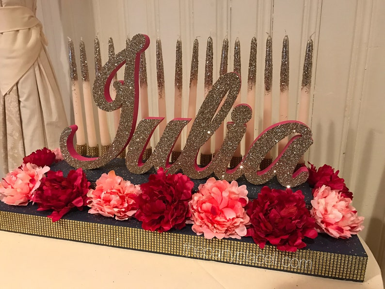 dca7b778d0d Kate Spade inspired Sweet 16 Candelabra Quinceanera