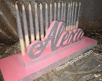 USA Made! Sweet 16 Candelabra, Quinceanera & Mitzvah Candle Lighting Centerpiece