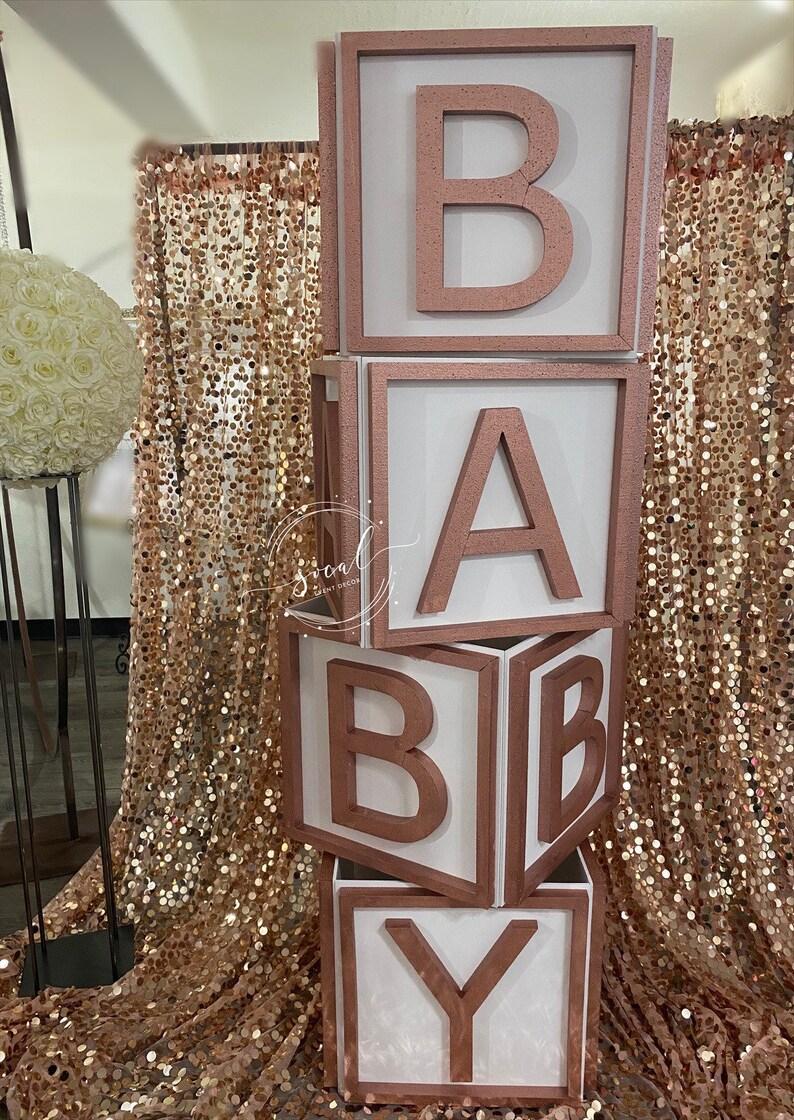 Huge Baby Blocks Prop Photo shoot candy buffet baby shower image 0