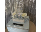 Sweet 16 15 Quince Card Box! GORGEOUS!! Rhinestone Tiara, Roses, and Gift Box Stack!