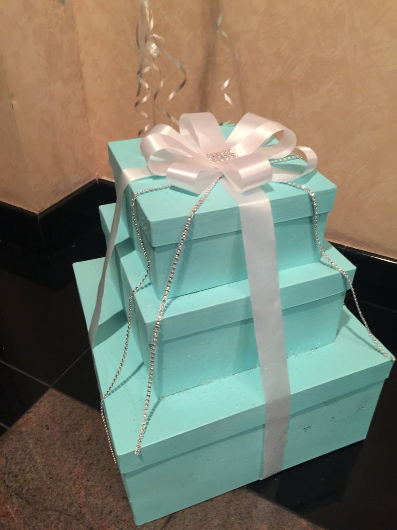 Gorgeous Box Stack / Centerpiece / Candy Table Prop / Decor / image 0