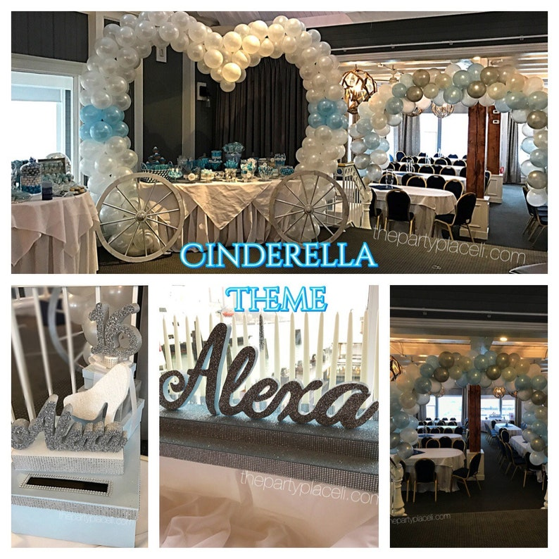 Cinderella Inspired Sweet 16 Candelabra and Card Box Combo image 0