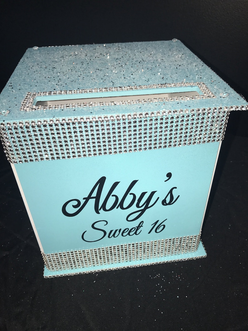 Large Card Box Glitter and Bling for Sweet 16 / Wedding / image 0