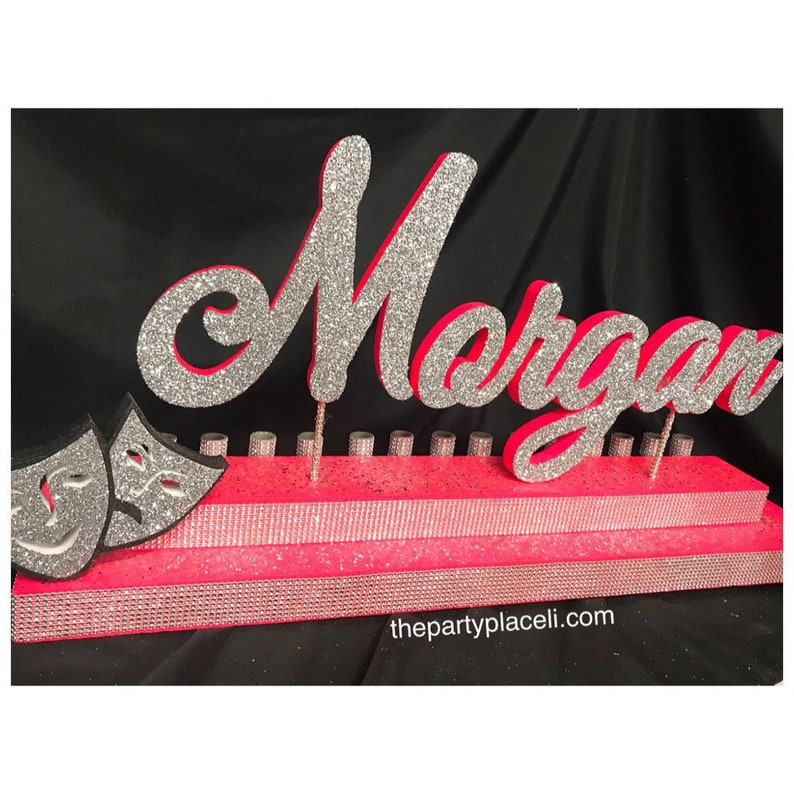 Masquerade or broadway Theme Sweet 16 Candelabra Quinceanera image 0