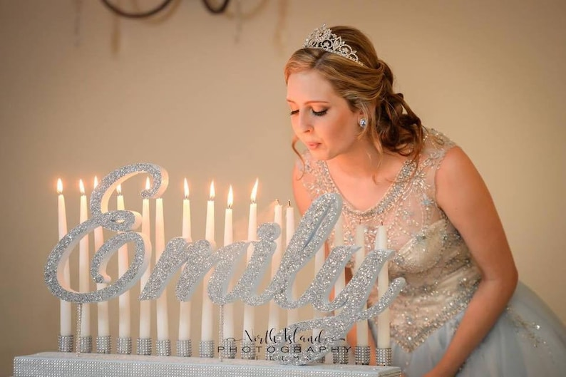 Sweet 16 Candelabra Quinceanera & Mitzvah Candle Lighting image 0