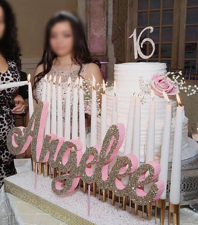Free Ship Sweet 16 Candelabra Quinceanera & Mitzvah Candle image 0