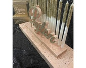USA Made! Set -Sweet 16 Candelabra and card box set, Quinceanera & Mitzvah Candle Lighting Centerpiece