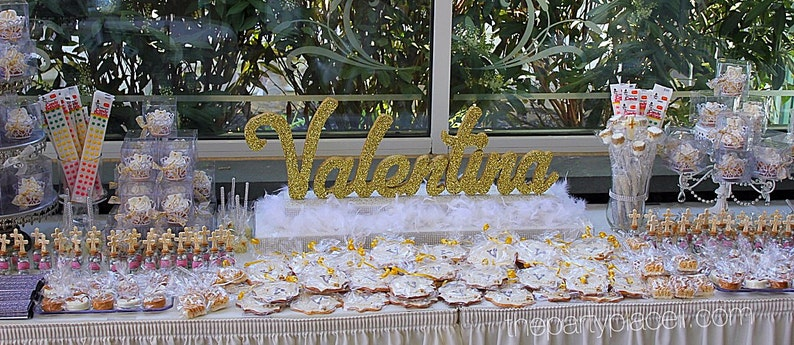 Custom Script Name Centerpiece for Sweet 16 Candy Buffet image 0