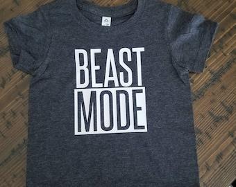 Beast Mode Toddler Shirt - Toddler / Kid gift shirt funny/ dark grey