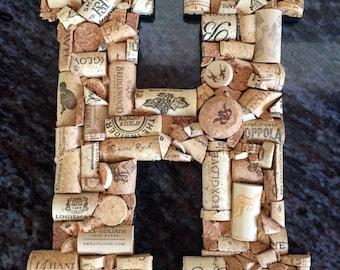 Personalized Wine Cork Letter