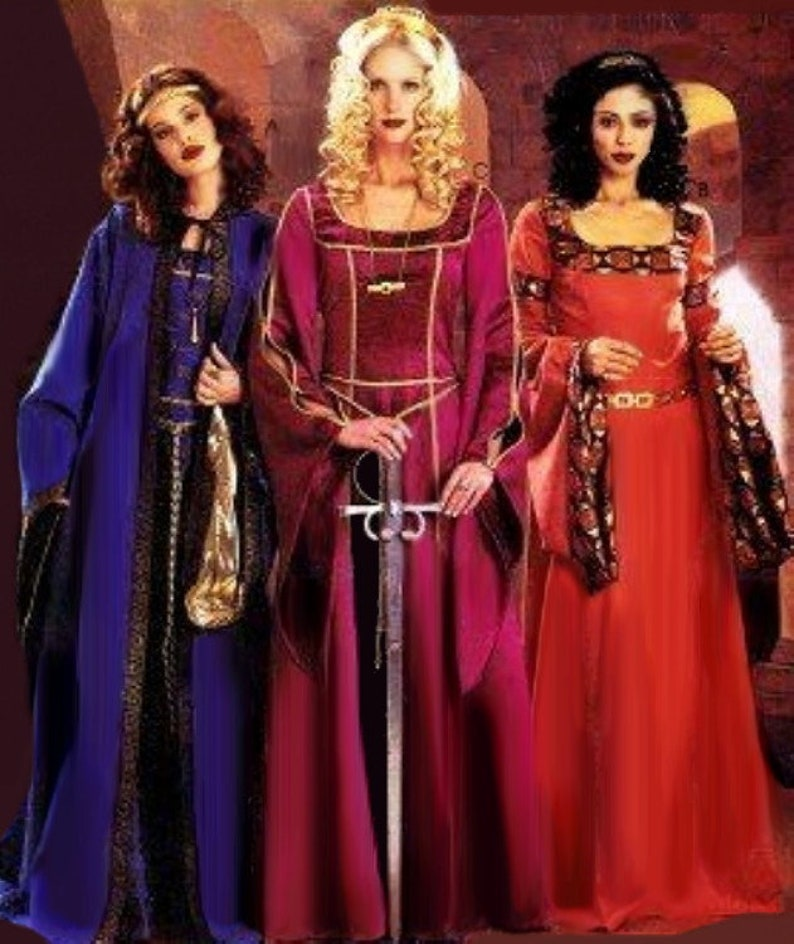 Women's Medieval Dress & Cape Sewing Pattern UNCUT McCall's P306 Miss Size  14-20 Halloween Costume