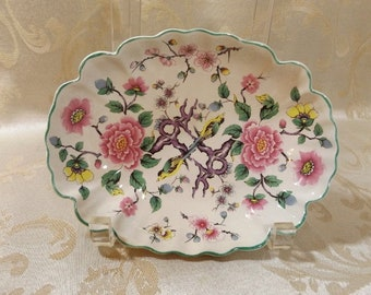 """Chinese Rose Dish/Bowl Old Foley by James Kent made in England  7"""" X 5.5"""""""