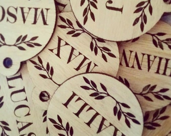 Personalised Gift Tags - Custom Engraved Timber Wooden Baubles / Christmas Decorations.