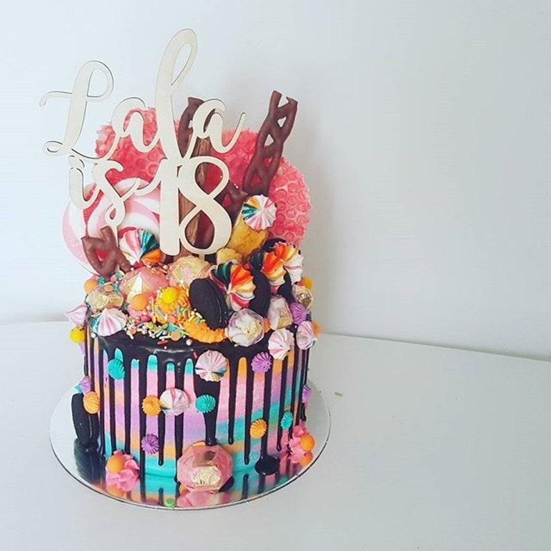 Custom Birthday Cake Topper Name And Age 1 2 3 18 21 30 40 50
