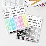 Shit List Checklists (26 matte stickers, for ECLP, Happy Planner, Filofax, Travelers Notebooks, Kikki K, Passion Planner, etc.)