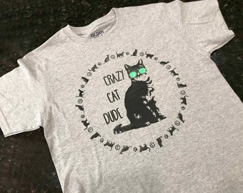 Kids Cat Shirt Etsy