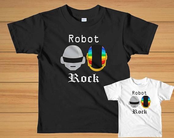 9073e022b5a6 Daft Punk Shirt/Daft Punk Discovery Helmets/Robot Rock/Daft | Etsy