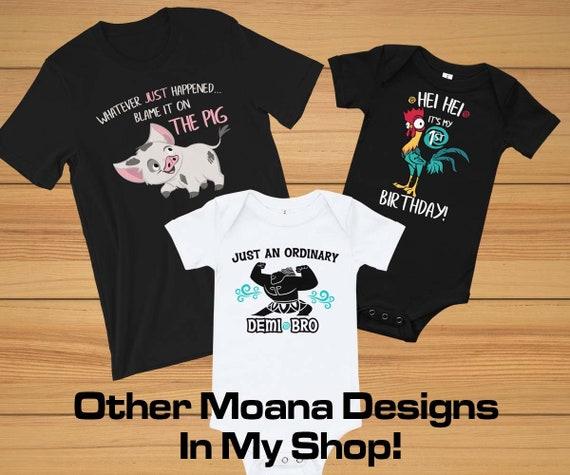 Moana Hei Hei Stripes Boys Graphic T Shirt