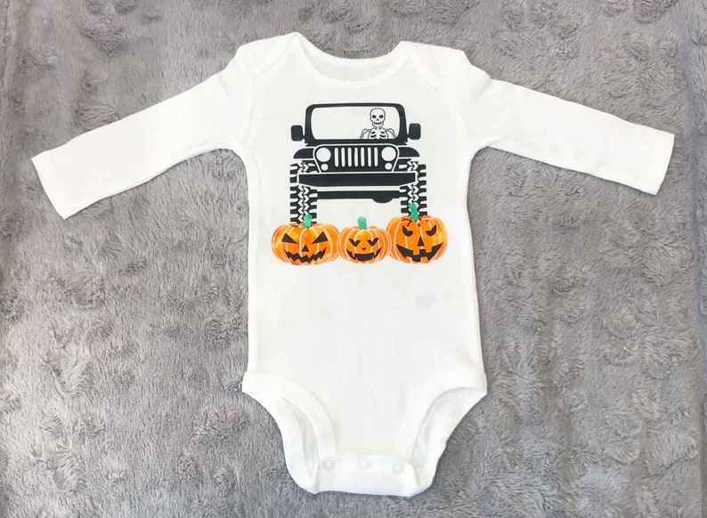 9ef3f6f57 Halloween Jeep Baby Onesie Halloween Baby Clothes Fall Baby