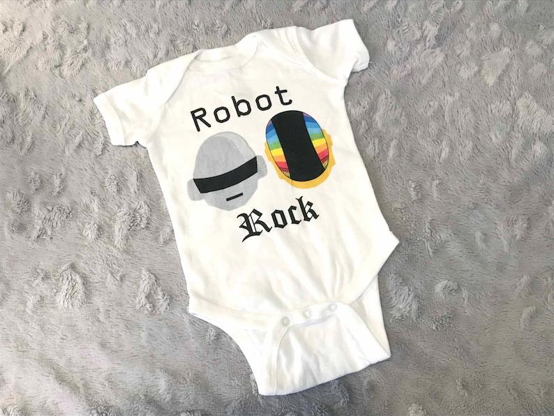 Robot bébé Daft Punk Rock casques Baby Body   Body maison  a091a793ee8