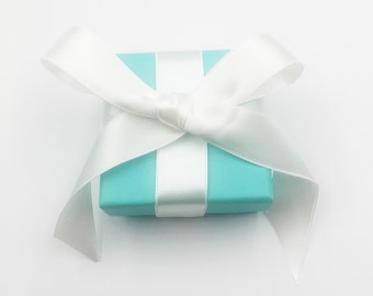 5563d5b2d5 Tiffany & Co. Blue Square Jewelry Box with Ribbon