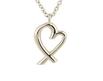 Rare Paloma Picasso Loving Heart Mini Pendant Necklace