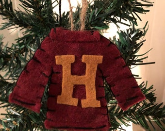 weasely sweater harry potter inspired sweater ornament