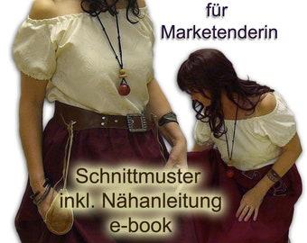 Schnittmuster Carmenbluse Marketenderin Mittelalter e-book 38-54