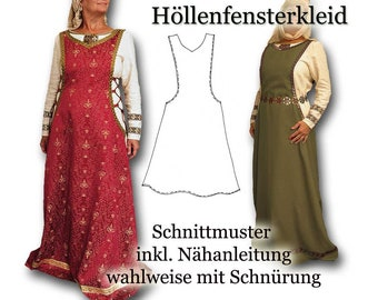 Schnittmuster Mittelalter Surcot