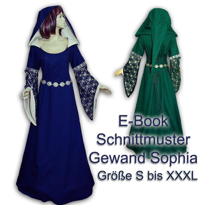 Schnittmuster e-book Mittelaltergewand mit Kapuze sewing | Etsy
