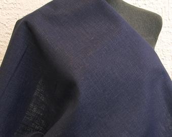100% Leinen fein dunkelblau