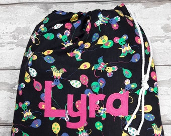 Mouse Mice Personalised Shoe Bag, Drawstring Bag, School Bag, Pump Bag, Gym Bag, Nursery Bag,  Personalized with Appliqued Felt