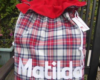 Tartan Santa Sack Personalised Christmas Gift Bag