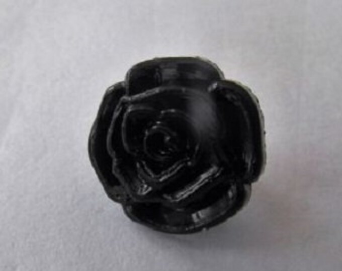 Buttons Black Rose Flower Shank Button sixe 13mm suitable for baby knitwear