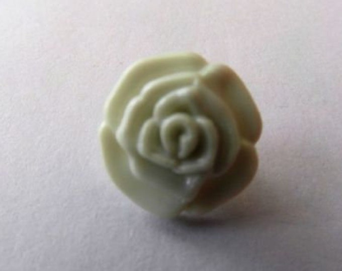 Cream Rose Flower Shank Button x 10 size 13mm suitable for baby knitwear