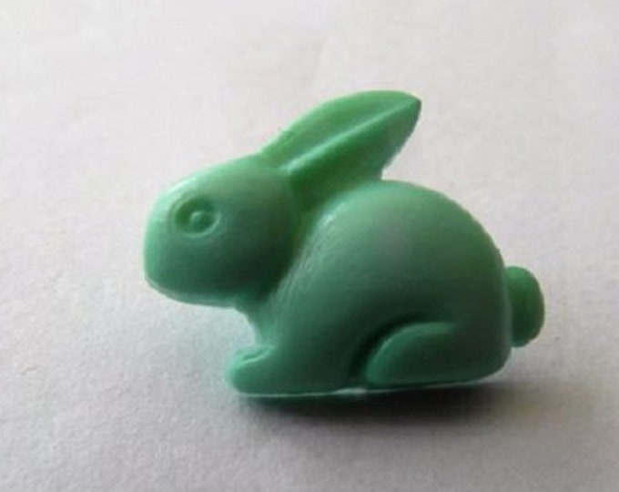 Buttons Mint Green Rabbit Shank Button x 10 size 15mm suitable for baby knitwear Pack of Ten Bunnies
