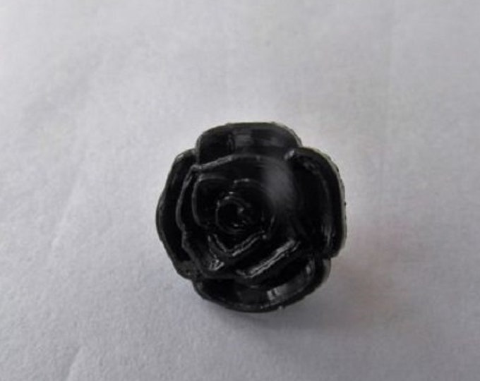 Black Rose Flower Shank Button sixe 13mm suitable for baby knitwear