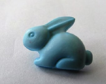 Baby Boy Pale Blue Rabbit Shank Button x 10 size 15mm suitable for baby knitwear
