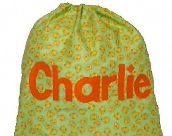 Nursery Bag Personalised Drawstring Yellow Chicks suitable School Kindergarten Diapers Personalized in Felt